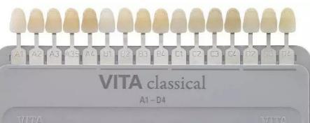 牙齿颜色的比色板
