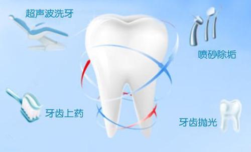 洗牙常见项目
