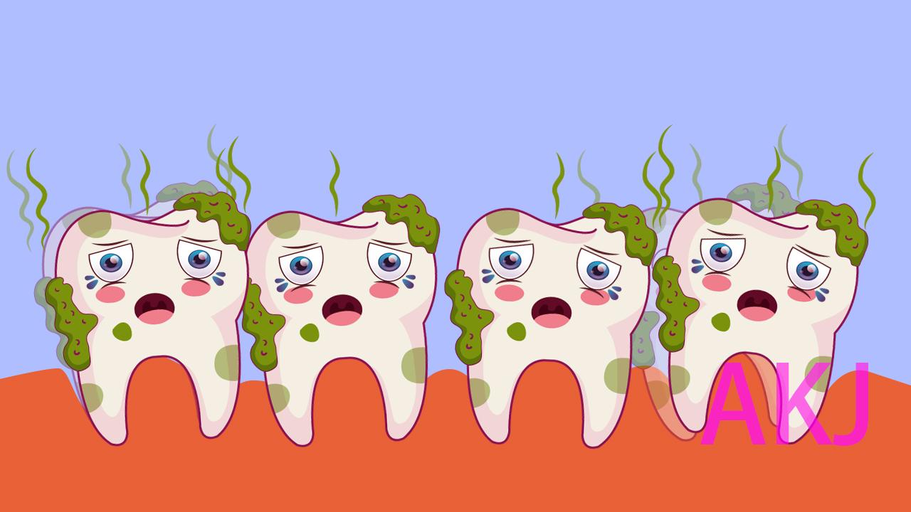 食物残渣,牙齿清洁不好