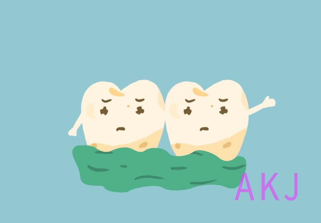 牙齿发黄的图片