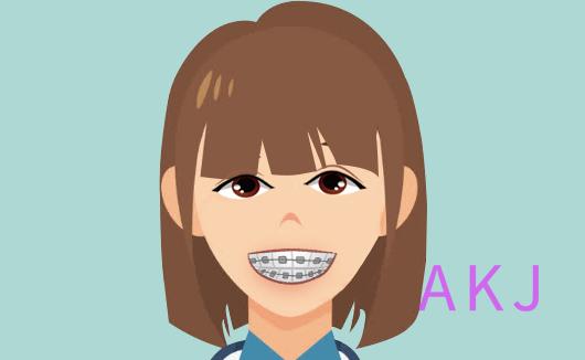 矫正牙齿示意图片