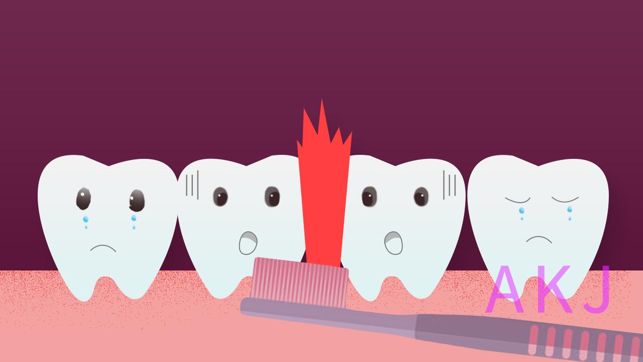 牙龈出血示意图片