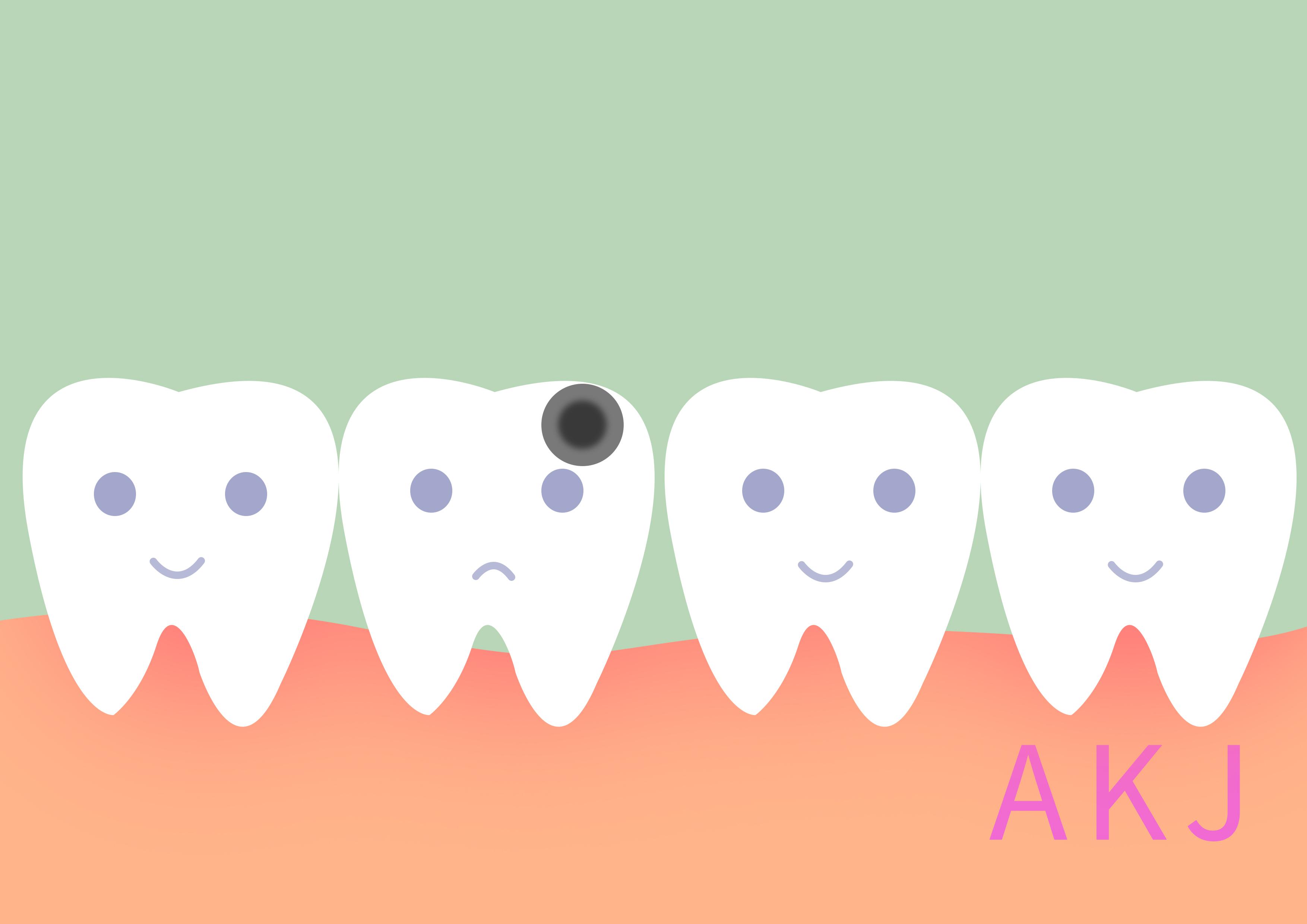 蛀牙示意图片